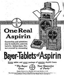 Se crea la aspirina