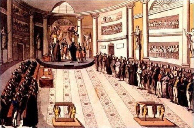 Fernando VII es obligado a jurar la Constitución española