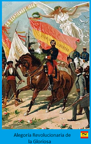 Revolución Gloriosa y exilio de Isabel II.