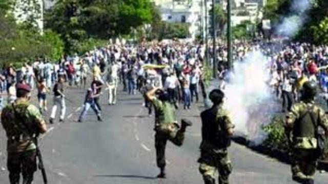 Represión al pueblo