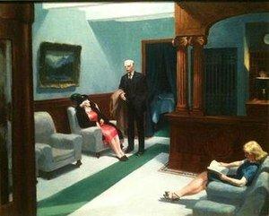 Hotel Lobby por Edward Hopper. (Indianapolis Museum of Art).