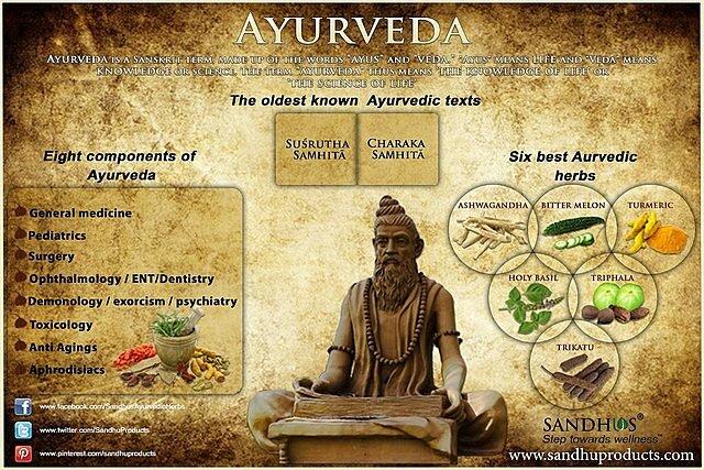 1500 BCE Ramas de la Ayurveda