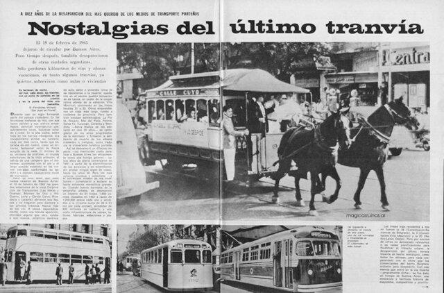 Desaparición de tranvías