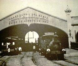 inauguración ferrocarril oeste.
