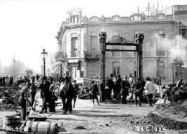 Inauguración de la estación de la Primera Junta