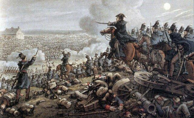 Poraz Napoleona pri WATERLOOJA.