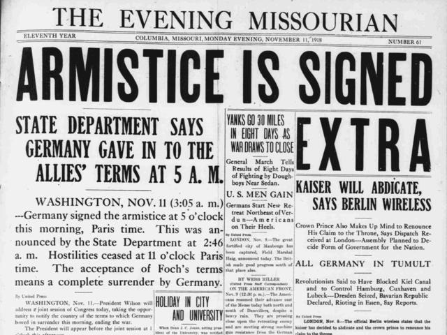 Armistice is Declared