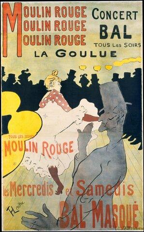 """""""La Goulue au Moulin Rouge"""""""
