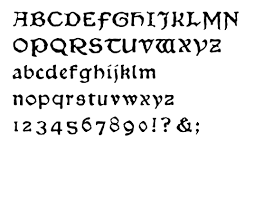 Chaucer Typeface