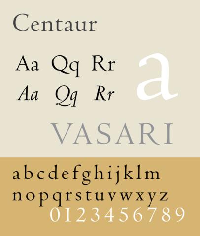 Centaur Typeface
