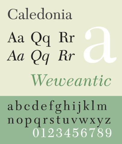 Caledonia Typeface