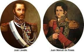 Pactos de Cañuelas y de Barracas entre Lavalle y Rosas