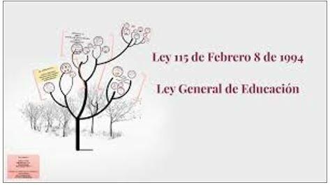 Ley 115 - Ley General de la educación