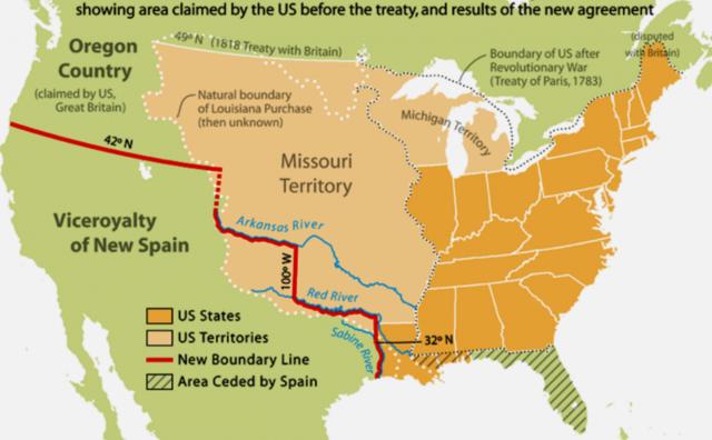 Tratado Adam Onís-Expansión hacia florida