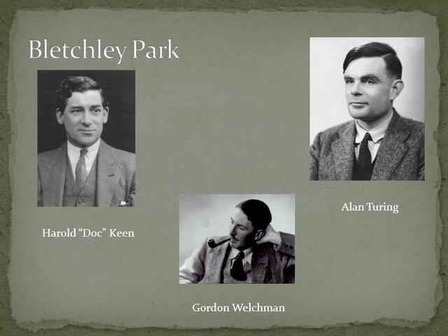 Turing, Welchman y Keen fabrican Bombe