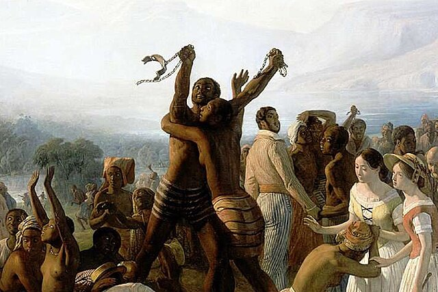 Fin de la esclavitud en América.