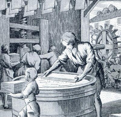 Fabricación de papel en Europa
