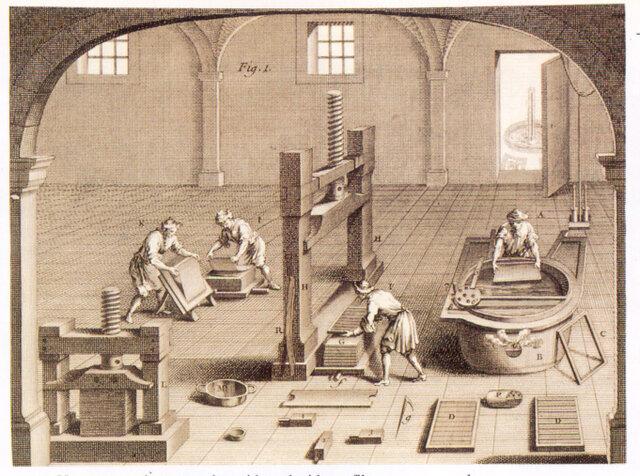 Fabricación del papel en Estados Unidos