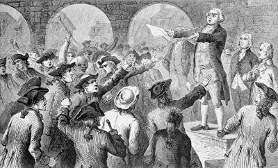 Formation des premiers mouvements révolutionnaires dans les 13 colonies