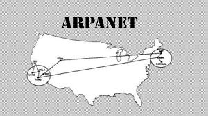 Transmisión del primer mensaje a través de la red Arpanet