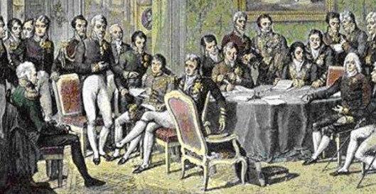 Firma del tratado Lunéville.