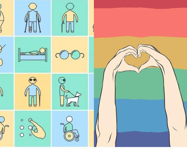 Comunidad LGTBI y Personas con discapacidad
