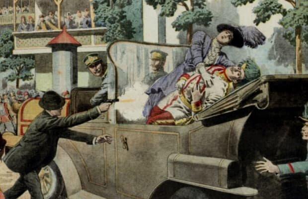 The murder of arch duke Franz Ferdinand