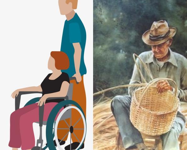 Personas con discapacidad y campesinos