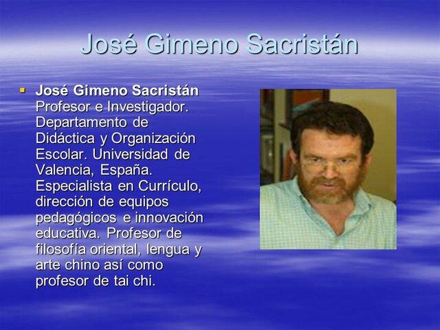 Autores: Gimeno Sacristán &