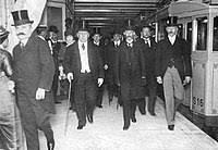 Inauguración Red de Subterráneos