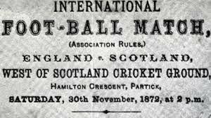 Primer encuentro internacional de futbol.