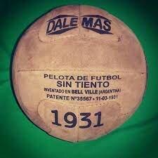 Invento de la primera pelota sin tiento.