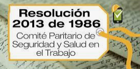 1986 ,COLOMBIA RESOLUCION 2013