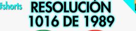 1989 ,COMOLMBIA RESOLUCION 1016