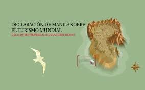 Declaración de manila sobre el turismo mundial (OMT)