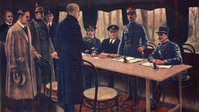 The armistice is signed