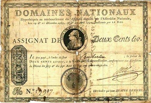 Primer papel moneda Europeo