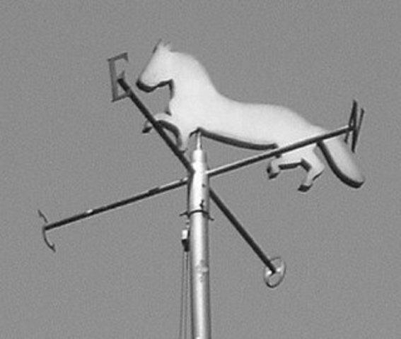 The weather vane of Nicolas Vila's pulperia: