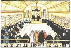 La separación formal de la iglesia y el poder de un estado independiente a ella