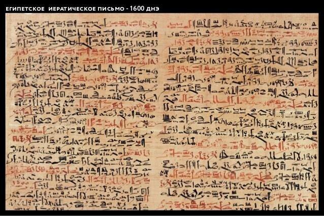 Иератическое письмо в Египте