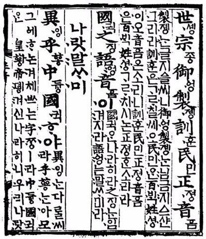 Корейское алфавитное письмо хангыль