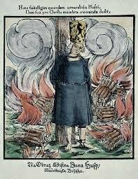 Jan Hus es quemado por hereje.