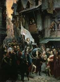 Juana de Arco llega a orleans.