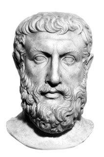 Parménides afirma que el fin de la educación es el desarrollo del intelecto, para lo cual solo hay un camino o método en la no-contradicción. Es precursor de la lógica aristotélica.