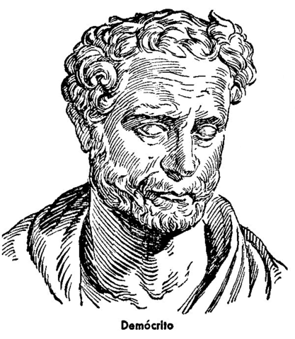 Demócrito propone una visión materialista del mundo, formado por átomos. La virtud y el bienestar huamanos vienen del equilibrio o justicia.