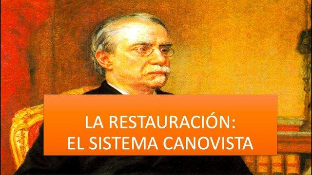 El sistema Canovista