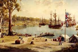 """The """" First Fleet """" Leave England"""