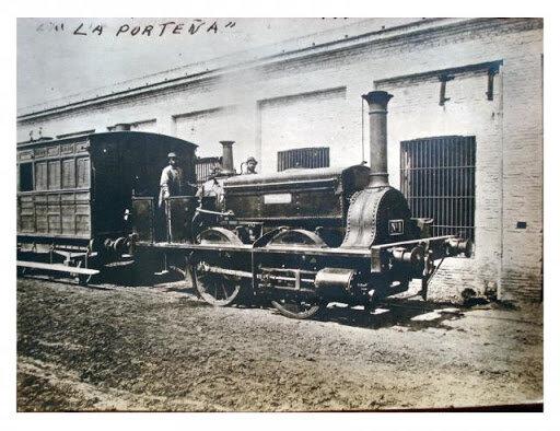 """la primera locomotora, """"La Porteña"""""""