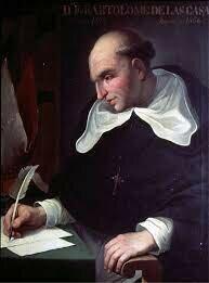 Fray Bartolomé de las Casas mantuvo una ardua discusión con Sepúlveda