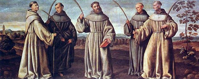 Llegada de los primeros frailes franciscanos